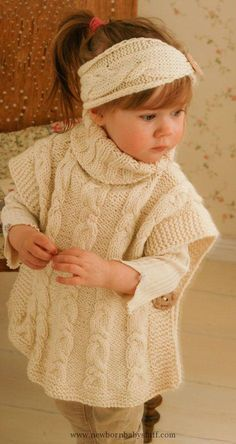 Knitting Pattern for Robyn Poncho for Babies and Children – Matching cable set. … Knitting Pattern for Robyn Poncho for Babies and Children – Matching cable set. Poncho sizes: woman M Poncho Knitting Patterns, Crochet Poncho, Knitting Stitches, Crochet Baby, Crochet Patterns, Crochet Vests, Crochet Edgings, Kids Crochet, Shawl Patterns