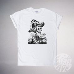 Army skeleton suite Tshirt  quality cotton unisex by RebelWaveTees