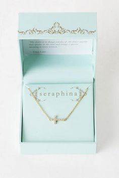 Francesca's Collections Seraphina Crystal Cross Necklace