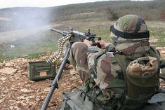 Legionnaire of 2ème REI with an M2 heavy machine gun.