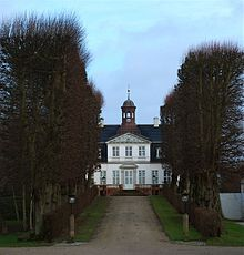 "Sorgenfri Palace (Danish: Sorgenfri Slot; lit. ""without sorrow"", like Sans Souci) is a royal residence of the Danish monarch, located in the Lyngby-Taarbæk municipality in Greater Copenhagen.  Today the palace is closed to the public but the palace gardens are accessible when the monarch is not in residence. Count Christian of Rosenborg (a younger son of Prince Knud) and his wife Countess Anne-Dorte presently reside in the palace"