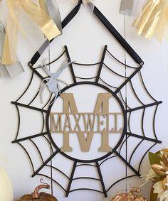 Look at this #zulilyfind! Unfinished Initial Spiderweb Wall Sign #zulilyfinds
