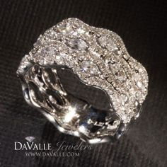 18 kt white gold 1.12 total weight round and marquise diamond anniversary ring (127-10859)