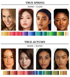 Find out which season you are in the twelve seasons colour analysis. This will help you determine the most harmonious colours for you. Deep Autumn Color Palette, Skin Color Palette, Colour Palettes, Neutral Skin Tone, Olive Skin Tones, Warm Skin Tones, Colors For Dark Skin, Seasonal Color Analysis, Color Me Beautiful