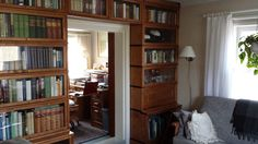 Home library and work space with Boknäs furniture.
