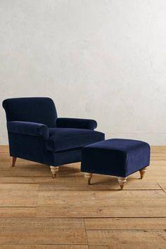 Velvet Willoughby Chair, Wilcox #anthroregistry