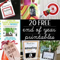 20 end of year teacher gift ideas, crafts