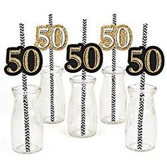 Adult Birthday Gold Paper Straw Decor Birthday Party Striped Decorative Straws Set of 24 *** Learn more by visiting the image link. (This is an affiliate link) 50th Birthday Favors, Birthday Parties, Birthday Ideas, 30th Party, Birthday Fun, Straw Decorations, Paper Fan Decorations, Cupcake Decorations, Fiestas