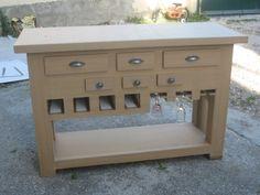 table console de cuisine - meubles en carton marie krtonne