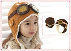 New Cute Baby Toddler Boy Girl Kids Pilot Aviator Cap Warm Hats Earflap Beanie   eBay