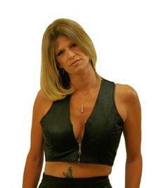 Biker Chics Leather Short Halter Top