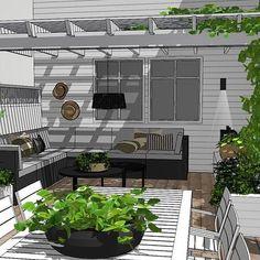 Pergola For Small Backyard Deck With Pergola, Covered Pergola, Pergola Shade, Patio Roof, Pergola Patio, Pergola Plans, Pergola Kits, Backyard, Wooden Patios