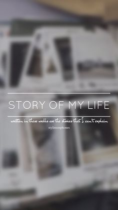 Story Of My Life // One Direction // ctto: @stylinsonphones (on Twitter)