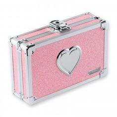Vaultz Pencil Box with Key Lock, Pink Bling with Heart - consumer products, llc logo sites Rosa Bling, Pink Bling, Pink Glitter, Pink Office, Cute School Supplies, Pink Acrylics, Pencil Boxes, Key Lock, Storage Boxes