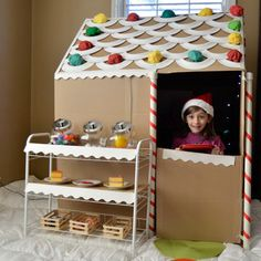 Gingerbread Cardboard House