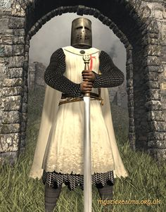 Knights Templar:  The #Knights #Templar, from Lundy, Isle of Avalon by Mystic Realms.