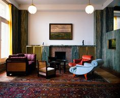 on-chairs: ADOLF LOOS lounge chairs - Villa Müller (via on-chairs) Art Deco, Art Nouveau, Interior Exterior, Interior Architecture, Ornament And Crime, Interior Inspiration, Mid-century Modern, Living Spaces, Furniture Design