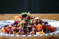 Buchweizen-Pfanne mit Gemüse Kung Pao Chicken, Vegan, Cobb Salad, Potato Salad, Healthy Lifestyle, Grains, Potatoes, Rice, Ethnic Recipes