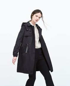 ZARA - NEW THIS WEEK - QUILTED GATHERED TRENCHCOAT