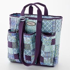 Donna Sharp Quilted Patchwork Utility Tote Bag