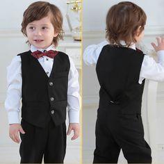 Black kids dress vest