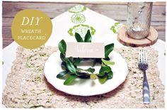 DIY: Wreath Placecard Holder | Smitten On Paper