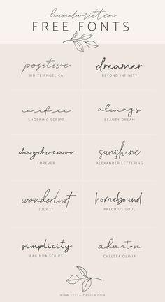 Handwritten Free Fonts Posted by Skyla Design . - Handwritten Free Fonts Contributed by Skyla Design … – - Mini Tattoos, Body Art Tattoos, Tatoos, One Word Tattoos, Tattoo Words, Tattoo Phrases, Danty Tattoos, Fine Line Tattoos, Couple Tattoos