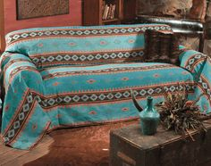 Skystone Turquoise Sofa Cover