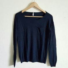 PURE Gap navy  sweater Really soft material  Navy sweater  Pocket on the top right GAP Sweaters Crew & Scoop Necks