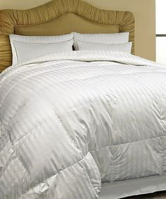 Take a look at this White Down Classic 500-Thread Count Damask Stripe Comforter by Hotel Grand Collection on #zulily today!