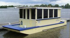 Trailerable Houseboat Plans | Bolger designed one, and it looks like all the others here to some ...