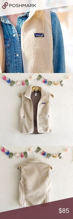 Patagonia Retro X Vest Classic cream vest by Patagonia. Perfect for layering over flannels and thermals. In great pre-owned condition. Size small. Patagonia Jackets & Coats Vests