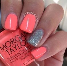 Elegant Gel Nail Art Designs 2018 I am getting nails done for the wedding! I want to get my nails done for Easter. Gel Nail Art Designs, Cute Nail Designs, Nails Design, Coral Nail Designs, Coral Nails With Design, Beach Nail Designs, Fingernail Designs, Pedicure Designs, Colorful Nail Designs