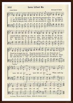 Love Lifted me Gospel Song Lyrics, Christian Song Lyrics, Gospel Music, Christian Music, Music Lyrics, Christian Quotes, Music Songs, Church Songs, Church Music