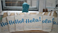 Personalized wedding welcome perfect for any destination wedding via ilu.lily designs on Etsy #destinationwedding #weddingwelcomebag #weddingfavors