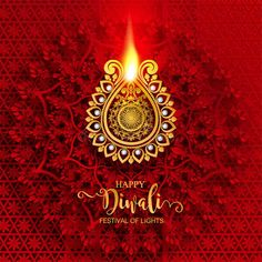 Illustration about Happy Diwali festival card with gold diya patterned and crystals on paper color Background. Illustration of greeting, card, cultural - 127634567 Happy Diwali Cards, Happy Diwali Pictures, Happy Diwali Wishes Images, Diwali Wishes Quotes, Diwali Greetings, Diwali Poster, Diwali Photography, Festival Rangoli, Diwali Festival Of Lights