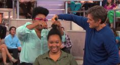MESS!! Dr Oz Doing Big Chops and Giving Natural Hair Styling Tips on National Television?!