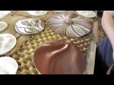Making ceramic wall art discs by Natalie Blake Studios #tileart