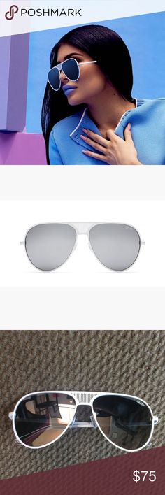 QUAY x Kylie Iconic Sunglasses in White NEW has never been worn but no tag since I received them as a gift. Quay Australia Accessories Sunglasses