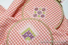 How-To: Embroider on Gingham