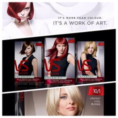 New Vidal Sassoon Salonist. Treats roots and lengths seperately! Www.vidalsassoon.com