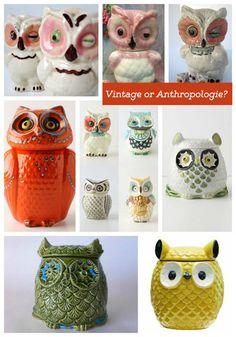Vintage owl or Anthropologie Reproduction? | VintageVirtue.net