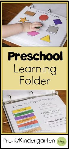Printable Preschool Learning Folder for the Early Years -
