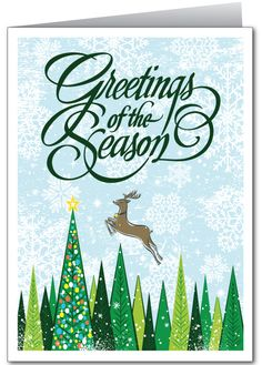 Retro Modern Holiday Greeting Card