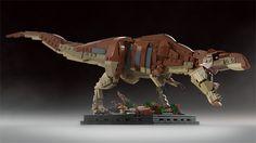 Awesome Lego T Rex by Senteosan - shame Lego didn't approve it! Lego Jurassic World Dinosaurs, Lego Jurassic Park, Electric Warrior, Lego Design, Legos, Lego Dragon, Lego Sculptures, Arte Robot, Cool Lego Creations
