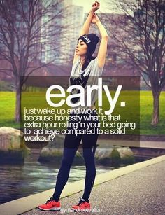 stop saying tomorrow ~ losing weight and fitness