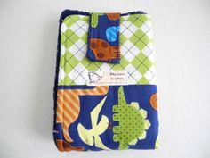 travel diaper mat dinosaur argyle by babyzebracreations on Etsy, $20.00