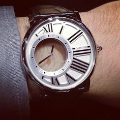 Cartier Rotonde #luxury watches #fashion #noble #man's watches #expensive #classic #famous #brand