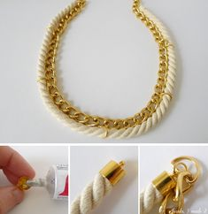 necklace diy - Buscar con Google