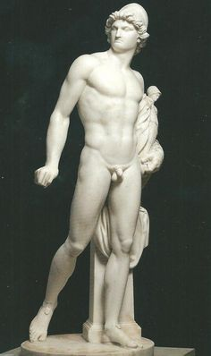 Johan Tobias Sergel, Diomedes (Marble, 1774, 150cm) [NationalMuseum, Stockholm]    Sergel was a Swedish sculptor and friends with Henry Fuseli whom he met in Rome in the 1770s. The statue was commissioned for Thomas Mansel Talbot in Italy, and is an example of neo-classicism. The Greek hero, Diomedes, holds a stolen trophy,  a statuette of the Greek goddess Athena. Diomedes' theft of the statue leads to the fall of Troy, as Wallace explains to George. The story is in Virgil's 'The Aeneid'. Athena Goddess, Chef D Oeuvre, Tobias, Troy, Les Oeuvres, Erotic, Sculptures, Statue, Friends